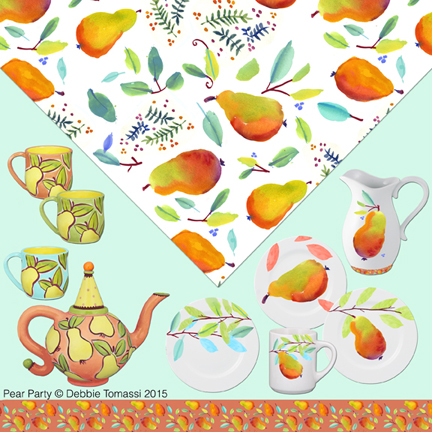 Portfolio Page - Pear Party by Debbie Tomassi